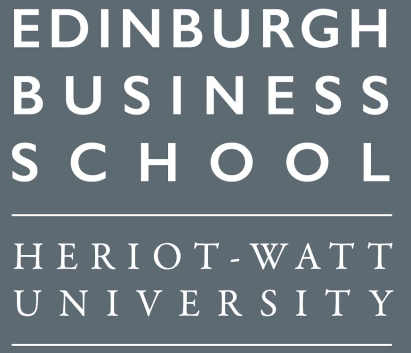Edinburgh Business School, Heriot-Watt University Logo