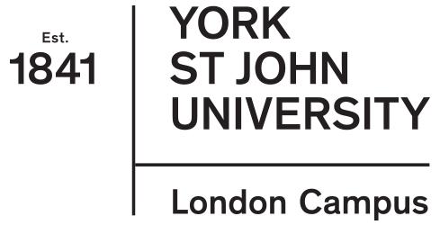 York St John University – London Campus Logo