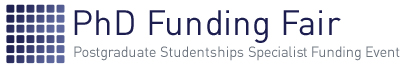 Find out more about our Postgraduate Studentships PhD Funding Fair 2nd December 2019 – What information can you get from the fair? Logo